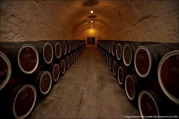 """Wine and Cognac Factory """"Maglev"""", Alushta, Crimea, March 1, 2012"""